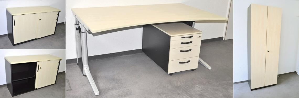 Büromöbel Großposten von Wini, Ceka und Sedus für 300 Arbeitsplätze