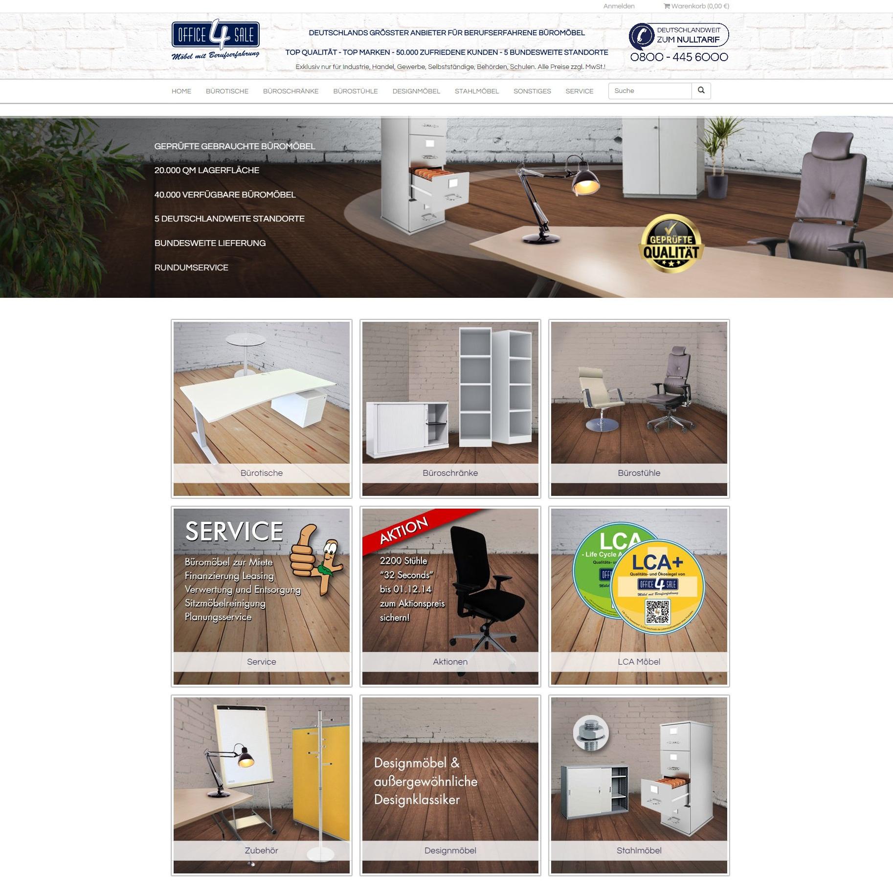 office-4-sale startet den Betrieb des neuen Webshops